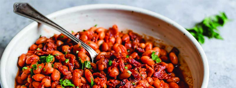 Sassy Smoked Bourbon Baked Beans