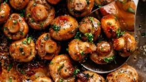 Jalapeno Chipotle Wine Mushrooms